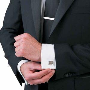 🖤 NWT‼️ Silvertone Cuff Links & Tie Bar Set